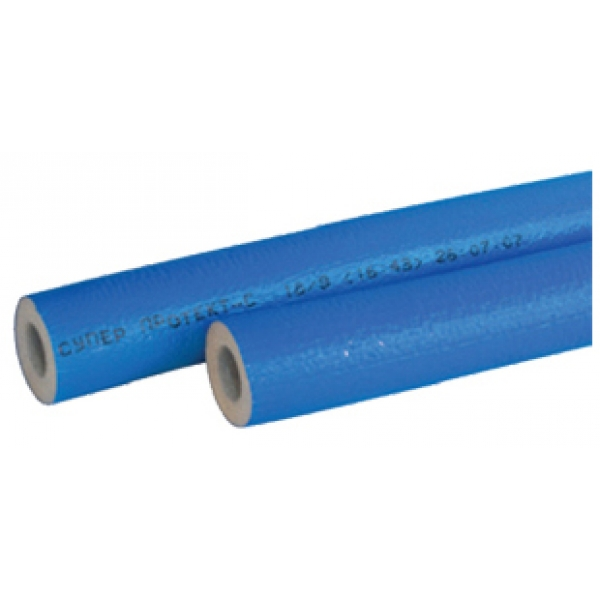 Теплоизоляция ЭНЕРГОФЛЕКС СУПЕР ПРОТЕКТ 22x6 (2 м) синий фото 1