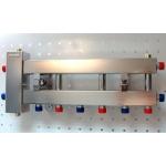 : фото Балансировочный коллектор компактный BMKSS-60-4D, сталь AISI 304, 2 стальных кронштейна K.UF