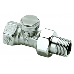 """: фото Радиаторный запорно-регулирующий клапан REGUTEC, DN15(1/2""""), проходной, никелированная бронза"""