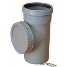 Ревизия канализационная серая 110 мм (диаметр крышки 115 мм) SINIKON фото 1
