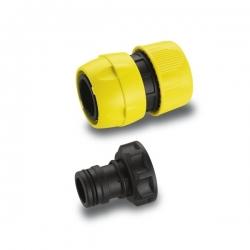 : фото Комплект соединительный Premium для подключения шлангов 3/4, Коннектор быстросъемный, штуцер G1 ВР
