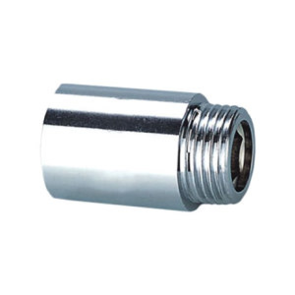 Удлинитель хромированный HВ 30x1/2  для стальных труб резьбовой N.T.M. фото 1