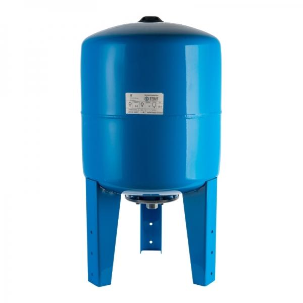 Гидроаккумулятор для водоснабжения (STOUT) Varem, 100 л, вертикальный, синий, сменная мембрана фото 1