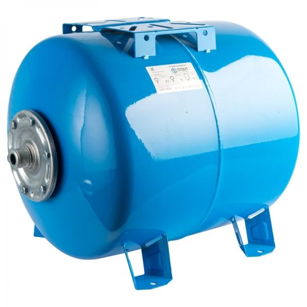 Гидроаккумулятор для водоснабжения (STOUT) Varem, 200 л, горизонтальный, синий, сменная мембрана фото 1
