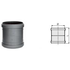 Муфта прямая канализационная серая 50 мм SINIKON фото 1