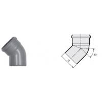Отвод 45° канализационный серый 110 мм Sinikon