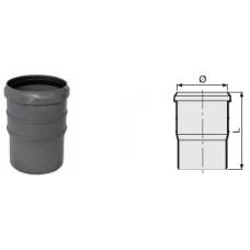Компенсационный патрубок удвоенной длины 170 мм канализационный серый диаметр 110 мм Sinikon фото 1