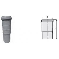 : фото Компенсационный патрубок утроенной длины 165 мм канализационный серый диаметр 50 мм Sinikon