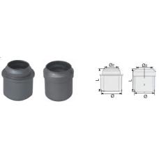 Переход прямой канализационный серый 50x40 мм SINIKON фото 1