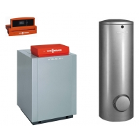 Пакет Viessmann: котел Vitogas 100-F GS1D 29 кВт, бойлер Vitocell 100-V CVA 200 л и Vitotronic 100 KC4B