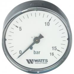 ": фото Манометр аксиальный Watts F R100 (MDA) 63/16x1/4"", 63 мм, 0-16 бар"