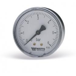 ": фото Манометр аксиальный Watts F R100 (MDA) 50/6x1/4"". 50мм, 0-6 бар"