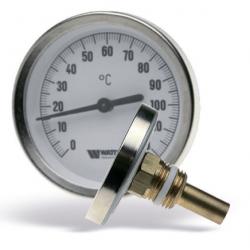 : фото Термометр биметаллический с погружной гильзой с самоуплотнением, 63 мм Watts F+R801 (TSD) 63/50, штуцер 50 мм