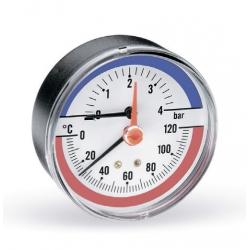 """: фото Термоманометр аксиальный Watts F+R818 6х1/2"""", DN 80, 0-6 бар"""