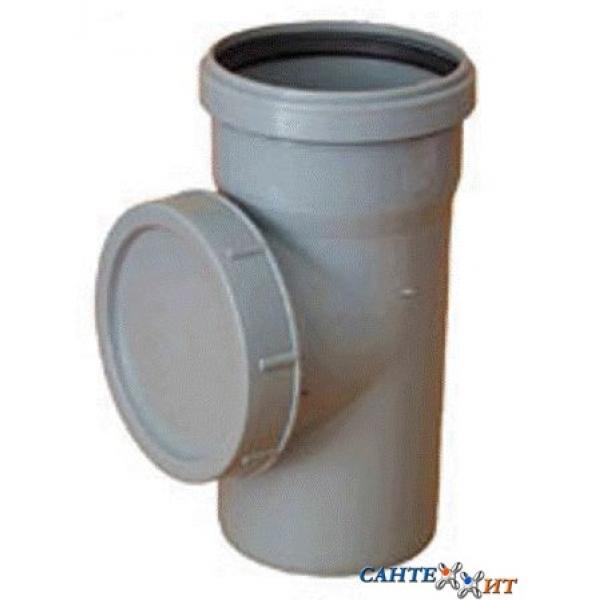 Ревизия канализационная серая 50 мм (диаметр крышки 90 мм) SINIKON фото 1