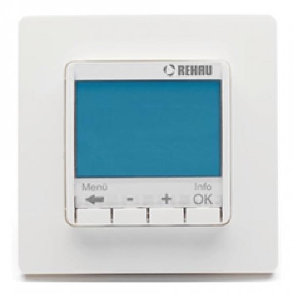 Терморегулятор REHAU Optima 10 A, с цифровым дисплеем, многофункциональный, программируемый, с датчиком температуры  фото 1