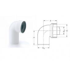 Отвод под сифон 50-40-30 Rehau фото 1