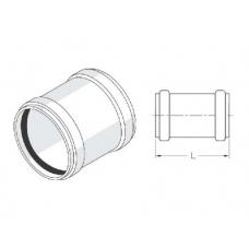 Муфта надвижная с резиновым уплотнительным кольцом 50 REHAU фото 1