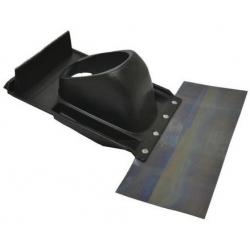 : фото Элемент из пластмассы для пересечения дымоходом/воздуховодом косой крыши черный