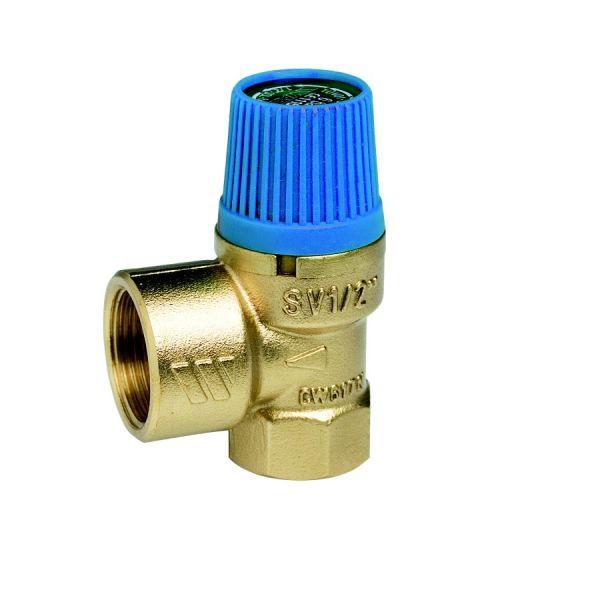 Клапан предохранительный WATTS SVW 6-3/4 для систем  водоснабжения (синий колпачок) 02.17.206  фото 1