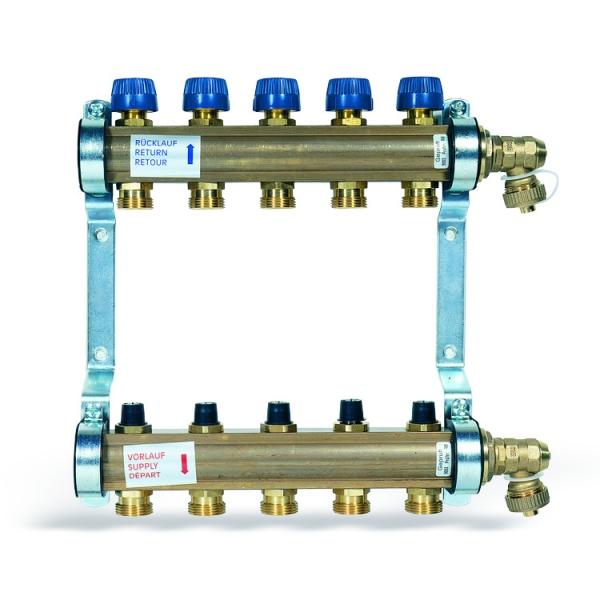 Коллектор для теплых полов WATTS 1'' x 3 выхода HKV-3  фото 1