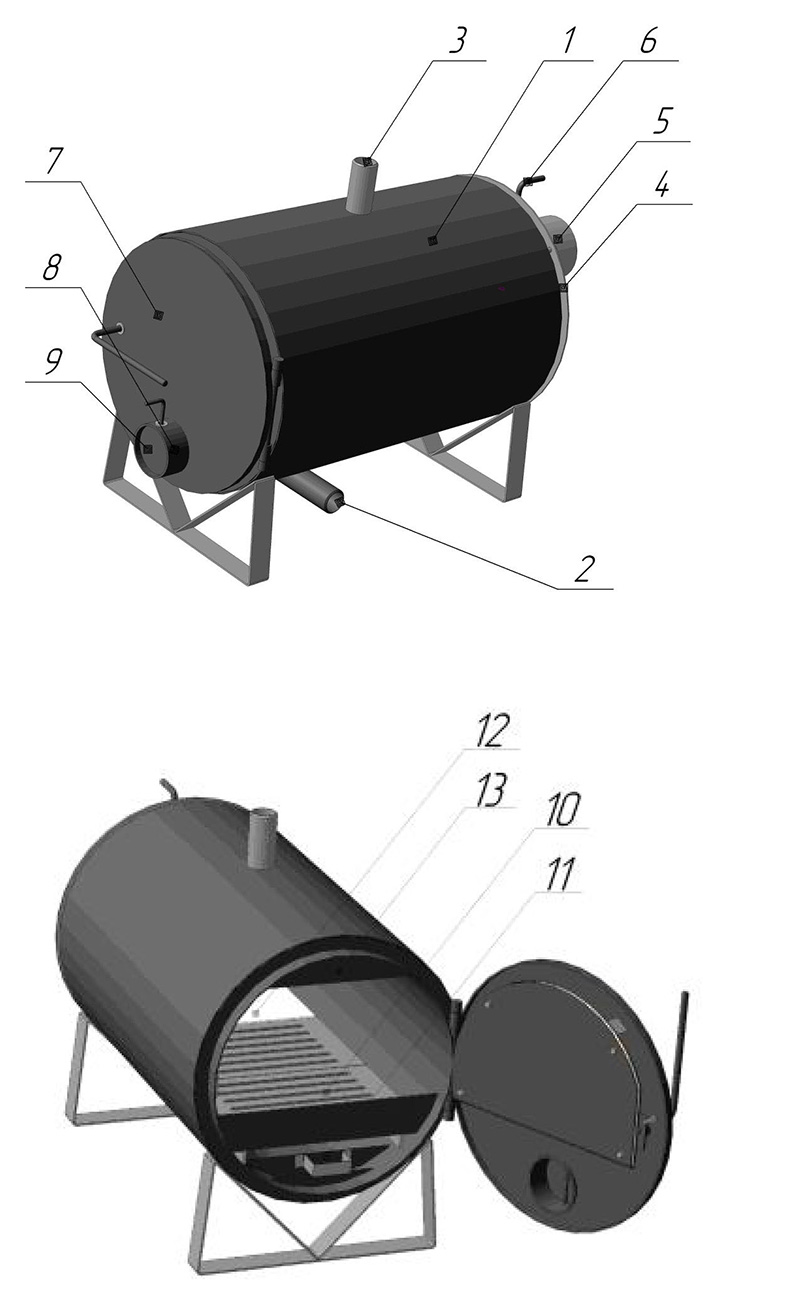 Устройство твердотоплвного котла Warmos TK 9