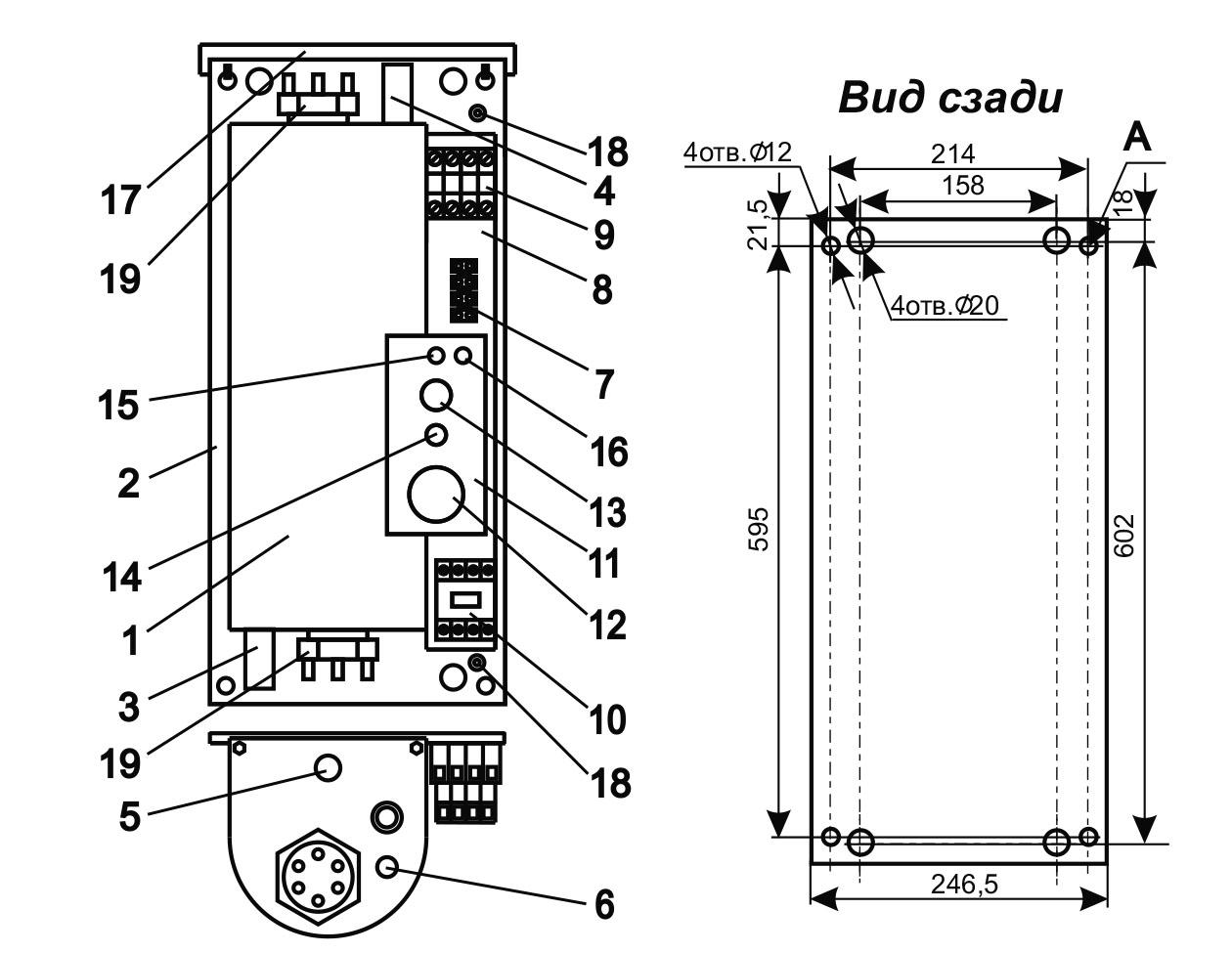 Схема электрокотла Эван C1