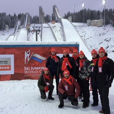 Представители российского Viessmann имели честь посетить соревнования по прыжкам на лыжах с трамплина