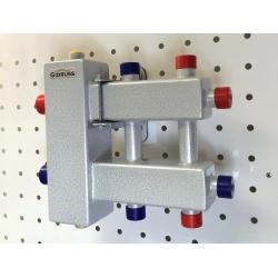 : фото Балансировочный коллектор компактный BMK-60-3DU, 09Г2С, 2 стальных кронштейна K.UF