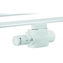 : фото Комплект нижнего подключения для полотенцесушителя или дизайн-радиатора с нижним подключением Multilux 4 Eclipse set c Halo