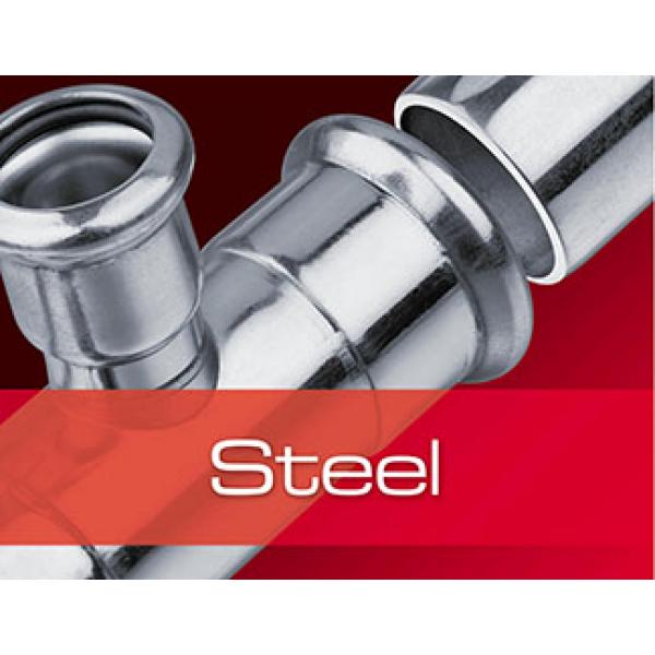 Труба из углеродистой стали, оцинкованная с двух сторон KAN-THERM Steel, отрезок 6 м фото 1