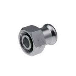 : фото Cоединитель press с накидной гайкой (к радиаторам VK) KAN-therm Steel, 15xG3/4