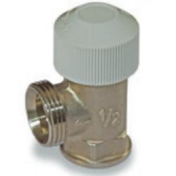 : фото Вентиль термостатический на подающую линию, угловой, G1/2
