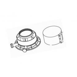 : фото Вертикальный адаптер, 60/100 PP, стальной соединительный хомут в комплекте с удлинителем 0,5 м., 60/100