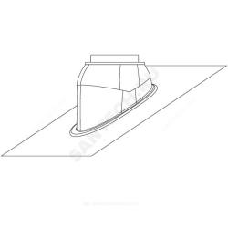 : фото Универсальная черепица наклонной крыши, чёрная, 25°-50°