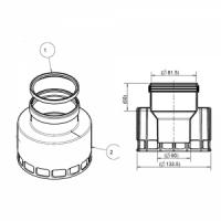 Присоединительный элемент 60/80 мм с отверстием для забора воздуха,(для систем80/80)