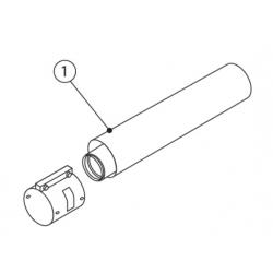 : фото Удлинитель, 2,0 м, 60/100PP, стальной соединительный хомут в комплекте