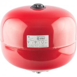 : фото Расширительный бак для отопления (Stout) Varem, 24 л, красный