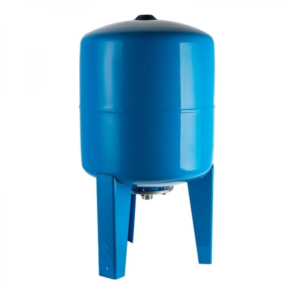 Гидроаккумулятор для водоснабжения (STOUT) Varem, 200 л, вертикальный, синий, сменная мембрана фото 1
