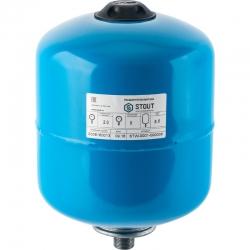 : фото Гидроаккумулятор для водоснабжения (Stout) Varem, 8 л, синий, с дифрагмой