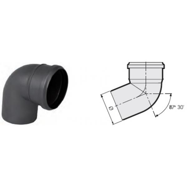 Отвод 87° канализационный серый 110 мм SINIKON фото 1