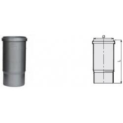 : фото Компенсационный патрубок учетверённой длины 245 мм канализационный серый диаметр 110 мм Sinikon