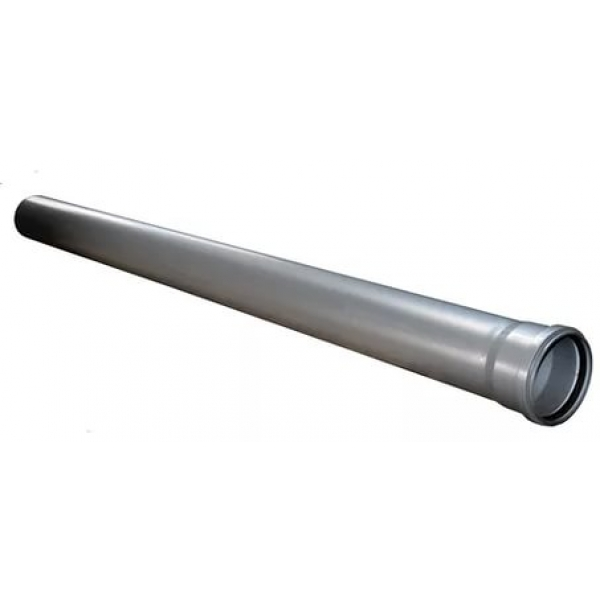 Труба канализационная серая 110x1000 SINIKON фото 1