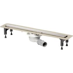 : фото Душевой лоток Advantix с решеткой Advantix Visign ER10, 1000мм, нержавеющая сталь, мод. 4983.10 Viega