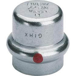 : фото Заглушка Prestabo 15, нелегированная сталь, цинковое гальванизированное покрытие, мод. 1156 Viega