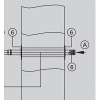 Проход через наружную стену параллельный D=80 мм Viessmann