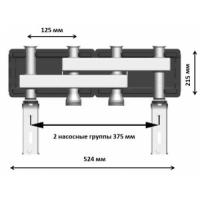 Коллектор стальной на 2 насосные группы, DN25