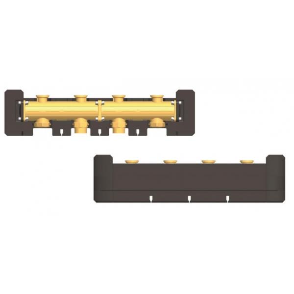 Коллектор латунный из 2-х предварительно смонтированных модулей с теплоизоляцией, DN25 фото 1