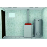 Пакет Viessmann: котел Vitogas 100-F GS1D 29 кВт, бойлер Vitocell 100-V CVAА 300 л, Vitotronic 100 KC4B