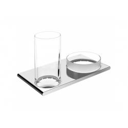 : фото Двойной держатель со стаканом и чашей для мелочей Keuco Edition 400 11554019000